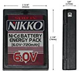 nikko battery pack - NIKKO NKAC-1760 6.0V Ni-Cd Battery Cassette