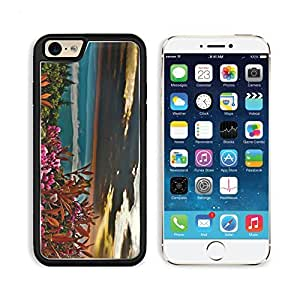 Summer Sunrise Mountain Flowers Apple iPhone 6 TPU Snap Cover Premium Aluminium Design Back Plate Case Customized Made to Order Support Ready Liil iPhone_6 Professional Case Touch Accessories Graphic Covers Designed Model Sleeve HD Template Wallpaper Photo Jacket Wifi Luxury Protector Wireless Cellphone Cell Phone
