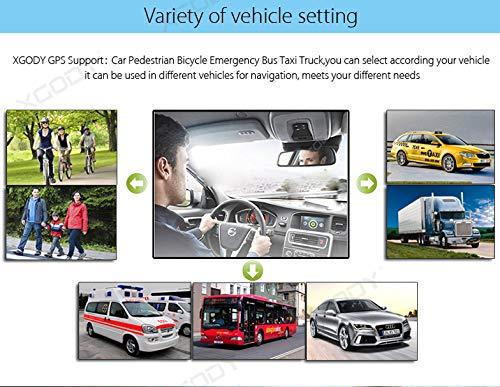 9inch Truck GPS Big Touchscreen Trucking GPS Bluetooth AV-in Xgody GPS Navigation for car Navigation 8GB ROM SAT NAV System Navigator Driving Alarm Lifetime Map Updates by XGODY (Image #7)