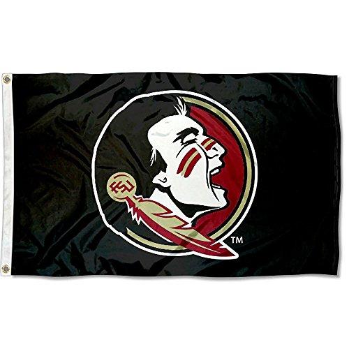 (Florida State University Seminoles New Logo Black College Flag)