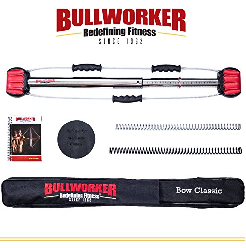 Bullworker 36″ Bow Classic -Full Body Workout- Portable Home Gym Isometric Exercise Equipment for Fast Strength Training Gains. Cross Training Fitness; Chest, Back, Arms, and Abs Exercise Machine