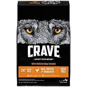 Crave Grain Free Adult Dry Dog Food With Protein From Chicken, 22 lb
