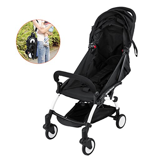 Superland One-Key Mini Folding Baby Stroller 0-36 Months Travel System Small Pushchair 360-degree Swivel Front Wheel Bottle Rack Infant Carriage (0-3 Years XF-598L)