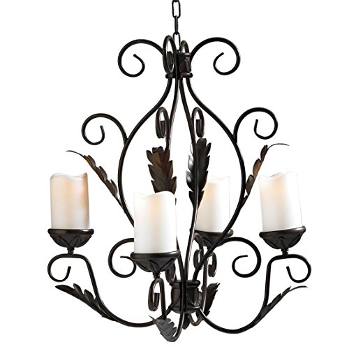 Brylanehome Ellie Gazebo Or Floor Chandelier (Bronze,0) (Outdoor Dining Gazebo)