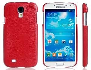 Textura de plástico Abierto-Cara para el Samsung Galaxy S4 / i9500 (Rojo)