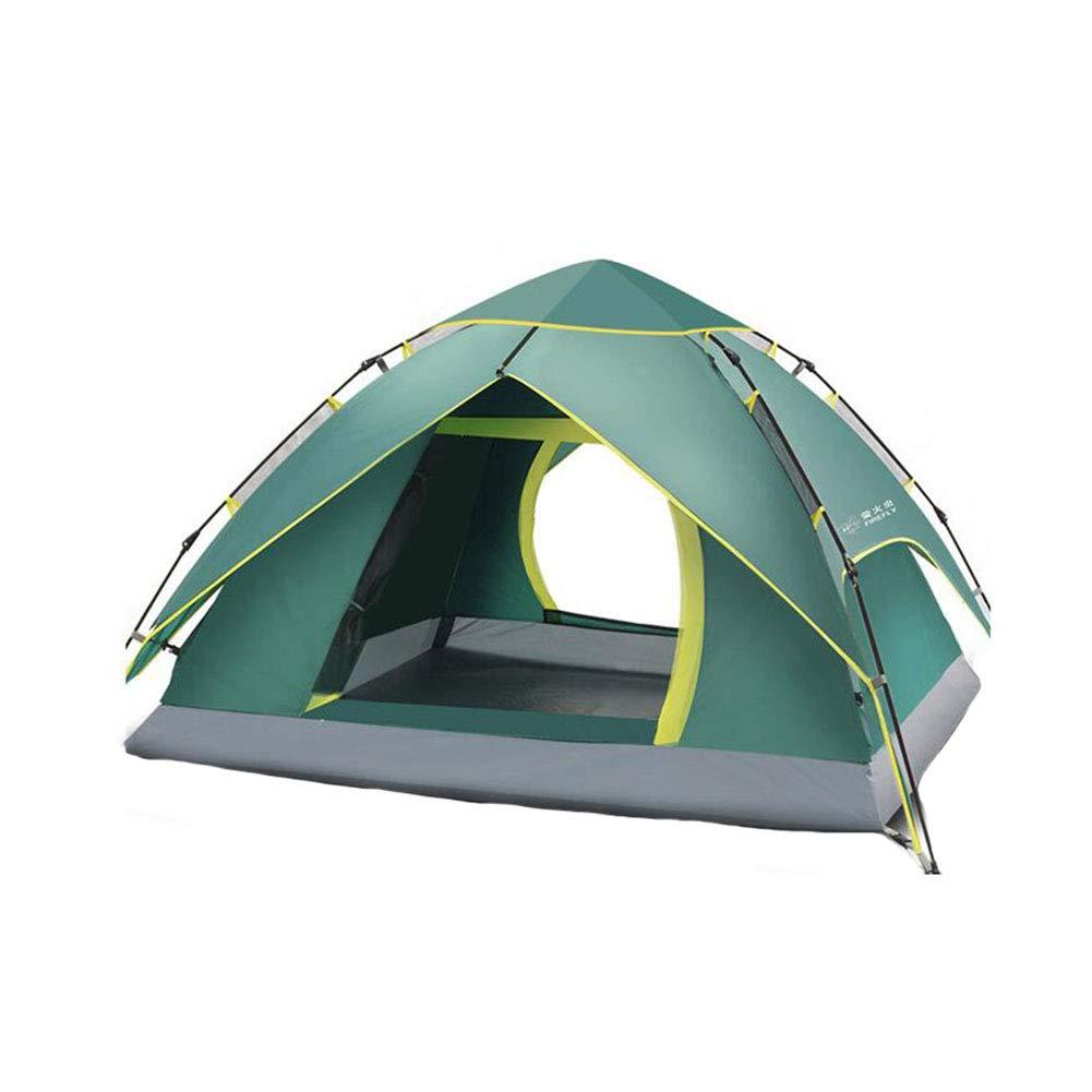 Dall zelte Zelt Automatisch Schnell Pop up Zelt Anti-UV Wasserdicht Draussen Camping Sofortiges Zelt Für 3-4 Personen (Farbe : Grün)
