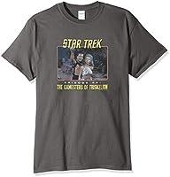 Trevco Men's Star Trek Short Sleeve T-Shirt, 46 Charcoal, Medium