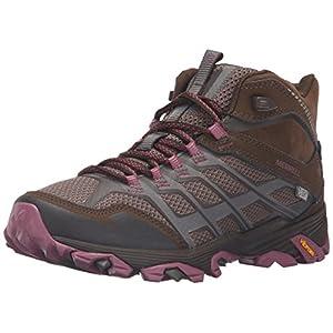 Merrell Women's Moab FST Mid Waterproof Hiking Boot, Boulder, 7.5 M US