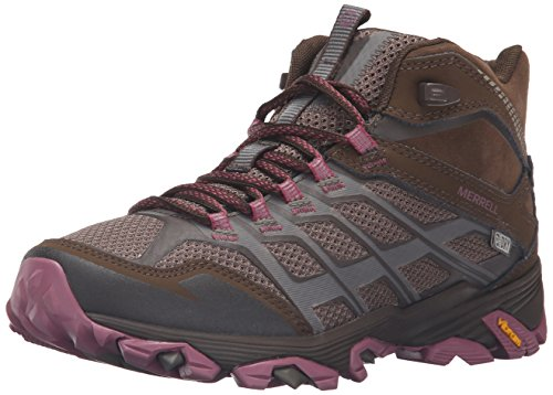 Merrell Women's Moab FST Mid Waterproof Hiking Boot, Boulder, 8 M US