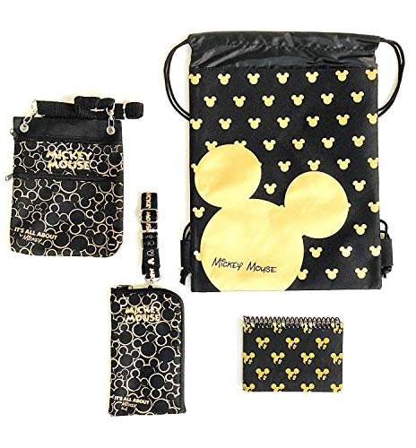 - Emerald Trip to Disney Land Mickey Mouse Fun Pack Bundle - Set of 4 (Gold Head)