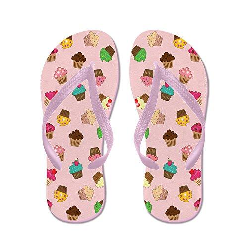 Cafepress Cupcakes - Flip Flops, Roliga Rem Sandaler, Strandsandaler Rosa