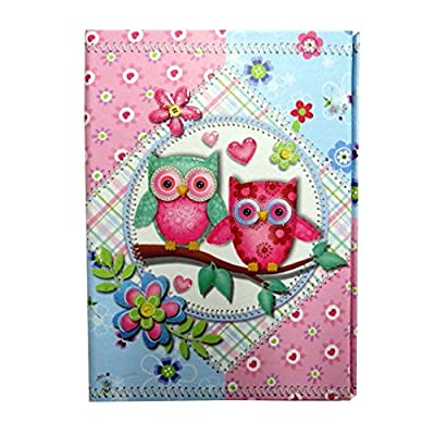 "Girls Mini Organiser with Magnetic Closing Cover - Owls Design, Size 6.3"" x 3.7"": Toys & Games"
