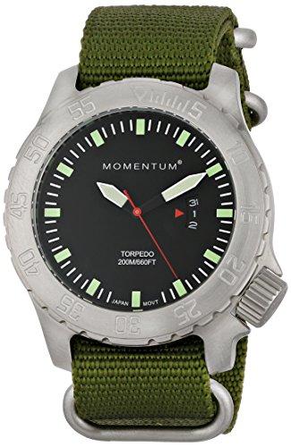 ST. MORITZ Momentum Men's 1M-DV74B7G Torpedo Analog Displ...