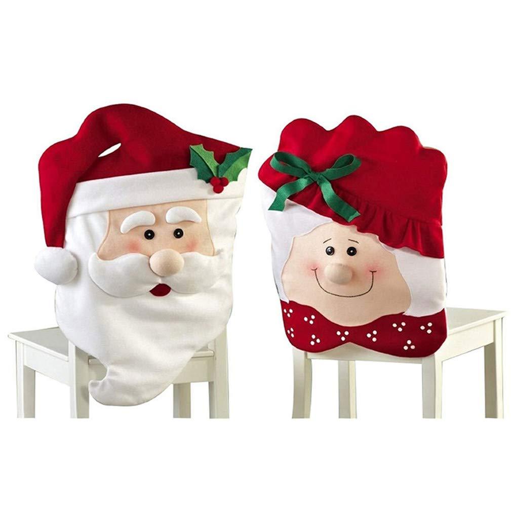 Kfnire Copri Sedia Decorativa, Mr & Mrs Creativo di Santa Tavolo da Pranzo Decor Decorazioni Natalizie