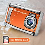"BanffCliff Waterproof Digital Camera, 21MP 1080P HD Anti-Shock 3 Meter Underwater Action Cam, 2.4"" LCD Screen Flash Mic IP68 Camcorder 8X Digital Zoom Water Sports Video Recorder 16G SD Card Included"