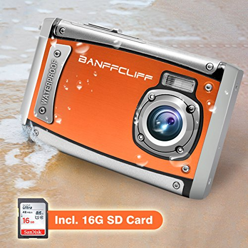 "BanffCliff Waterproof Digital Camera, 21MP 1080P HD Anti-Shock 3 Meter Underwater Action Cam, 2.4"" LCD Screen Flash Mic IP68 Camcorder 8X Digital Zoom Water Sports Video Recorder 16G SD Card Included by BanffCliff"