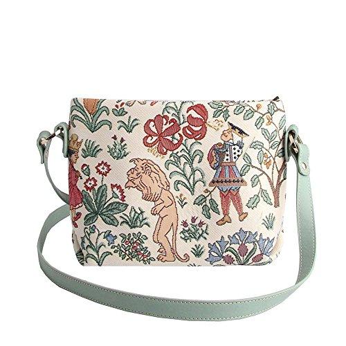 bandolera mujer en el de para en de Bolso Floral de hombro maravillas mano moda bolso bolso tapiz las Signare país messenger de Alicia Pxf074