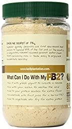 Bell Plantation PB2 Powdered Peanut Butter Jar, 1 Pound (Pack of 2)