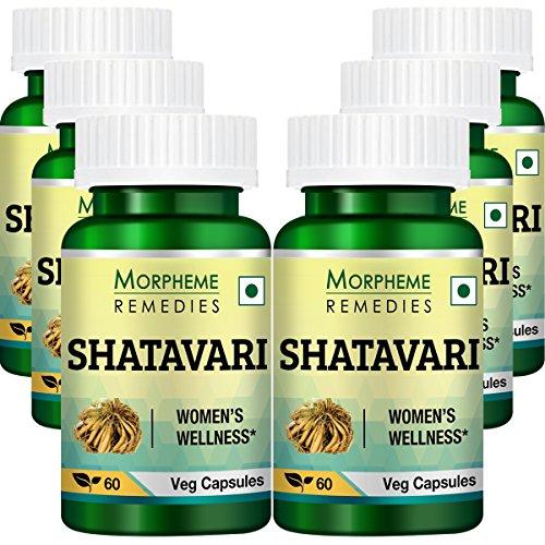 Morpheme Shatavari (Asparagus Racemous) 500mg Extract 60 Veg Caps - 6 ()