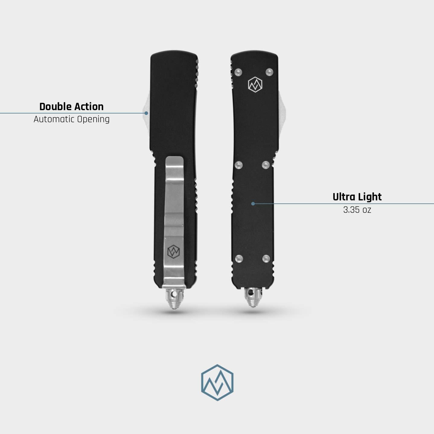 OTF Double Action Safety Knife (Matte Black & Satin Tanto Blade) by OTF (Image #4)