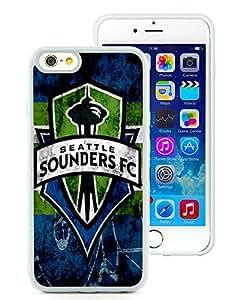 Seattle Sounders FC 16 White Unique iPhone 6 4.7 TPU Phone Case