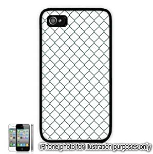 Green Diamond Fence Pattern Apple iphone 5 5s Case Cover Skin Black