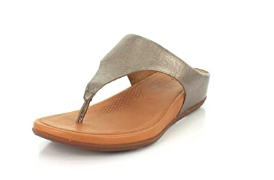 8b7cdb0c19a5b Fitflop Women s Banda Leather Toe-Post Sandals Bronze 04  Amazon.co ...