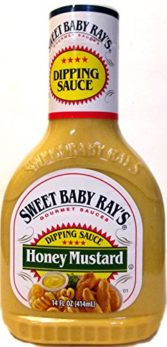 Sweet Baby Ray's Honey Mustard Dipping Sauce (Pack of 3) 14 oz Bottles (Mustard Sauce Sweet)