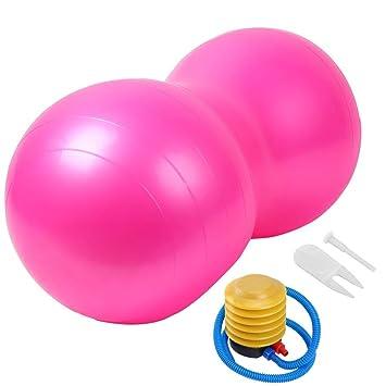 LIJJY Pelota de Gimnasia Cacahuete Forma Anti-Burst Balón Fitness ...