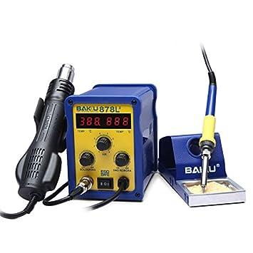 Único Preciso y duradero sofisticado BAKU BK-878L2 CA 110 V Pantalla LED 2 en 1 Estación de soldadura de soldador con pistola de aire caliente: Amazon.es: ...