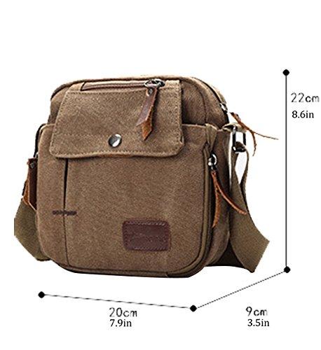 Handbag Multi Degohome Small Canvas Armygreen Crossbody Casual Bag Messenger Bag Bags Shoulder pocket Travel 7vwqa7Bn1