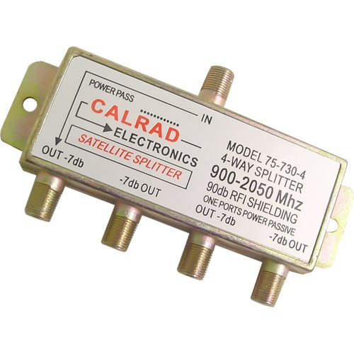 Calrad 75-730-4 4-Way 2GHz Satellite Splitter