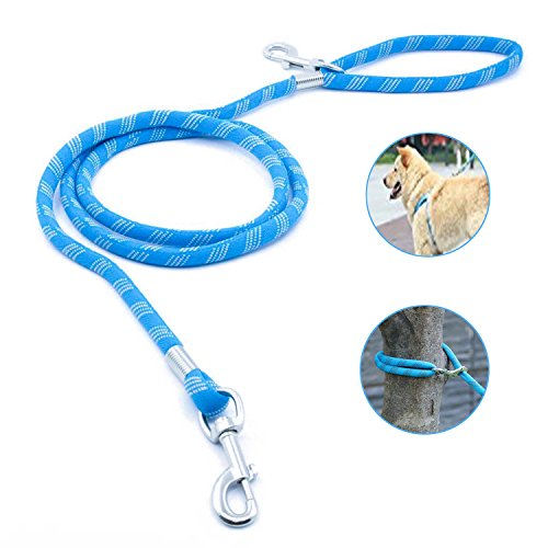 ThinkPet Multiple Use Mountain Climbing Rope Lead Sturdy Comfortable Dog Leash Support Strong Pulling 6 Feet Light -