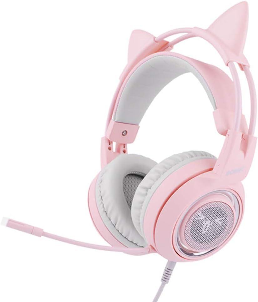 Cuffia gioco rosa Gaming Headset con microfono per ragazze