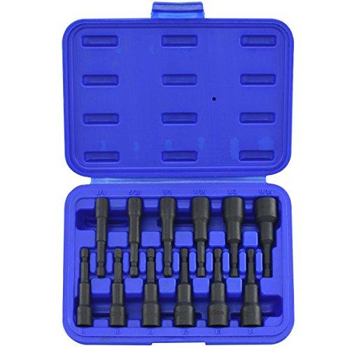 Te echo de menos Magnetic Nut Setter 12pc Power Driver Quick Load Master Setter SAE Metric Set from Te echo de menos