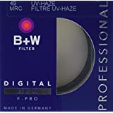 B+W 49mm Clear UV Haze Filter with Multi-Resistant Coating (010M)