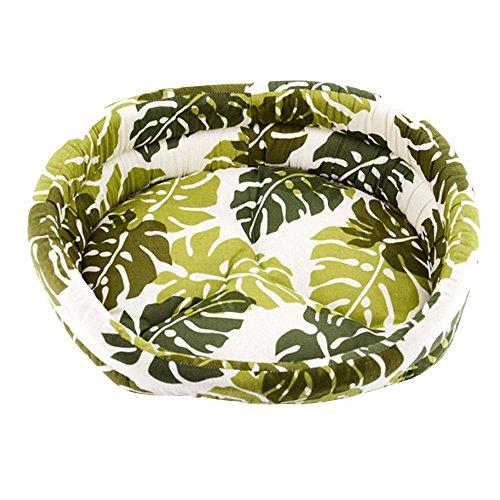 Baiyu Summer Dog/Cat Bed Cozy Nest Canvas Pet Sleeping Bag Bowl-shaped Leaves Pet Sofa Mat Backrest Cat Basket Pet Supplies for Pet Dog, Cat, Rabbit,Pig (Bowl Shaped Basket)