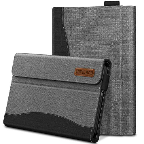 Infiland Galaxy Tab A 8.0 2019 Case, Multi-Angle Business Cover Built in Pocket Compatible with Samsung Galaxy Tab A 8.0 2019 Release Model SM-T290 SM-T295 SM-T297 Tablet, Gray (Best Tablet 2019 For Business)