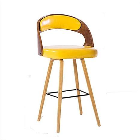 Fine Amazon Com Rhhwjjxb Solid Wood Bar Stool Chair Bar Chair Machost Co Dining Chair Design Ideas Machostcouk