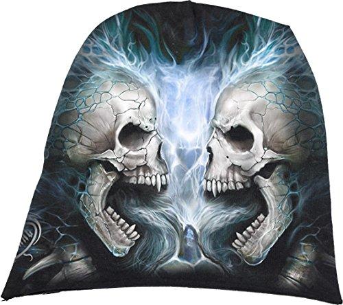 Spiral - Mens - Flaming Spine - Light Cotton Beanies Black - L