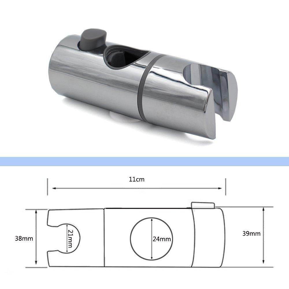 Support de douche /à main 360 /° Support de t/ête de douche r/églable pour diam/ètre 30MM Rail de rail ABS Barre de fixation /à glissi/ère Chrome plaqu/é