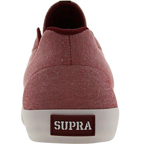 Supra - Zapatillas de skateboarding para hombre burdeos