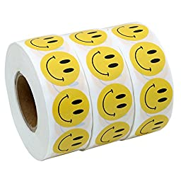 Hybsk(TM) Yellow Smiley Face Happy Stickers 1\