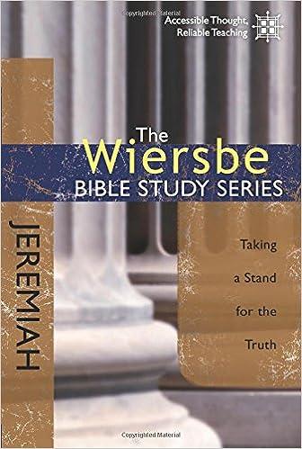 Book Jeremiah (Wiersbe Bible Study Series)