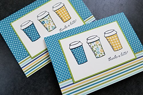 Coffee Gift Card Holder Gift Card Envelope Thanks a Latte Card Thank You Card Coffee Card Coffee Lover Gift Teacher Appreciation Gift