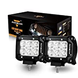 "Automotive : Auxbeam LED Light Bar 4"" 18W LED Pods 6Pcs 3W CREE LEDs 1800LM Spot Beam Waterproof Driving Lights for Trucks Pickup Jeep SUV ATV UTV (Pack of 2)"