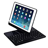 iPad-Case-with-Keyboard-for-97-2017-New-iPad-97Pro-97Air2AirGenjia-Bluetooth-Wireless-Keyboard-Backlit-Tablet-Carrying-Holder-Auto-SleepWake-Flip-Rotate-Slim-Folio-Smart-Cover-Black