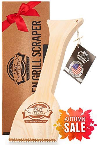 Easy Function Grill Scraper - Wooden BBQ