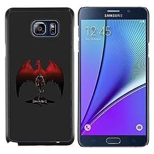 Queen Pattern - FOR Samsung Note 5 N9200 N920 - Red Dragon - Cubierta del caso de impacto con el patr???¡¯???€????€?????n Art Designs
