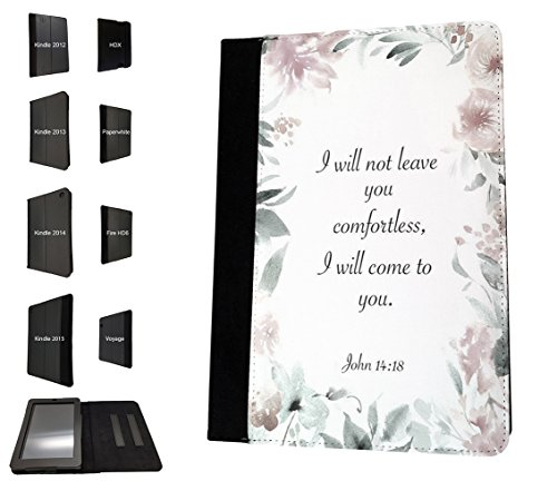 003092 - Bible proverb John 14 Christian Quote Design Amazon Kindle Fire HD 6'' 4th Generation 2014/2016 Flip Case Purse pouch Stand Cover